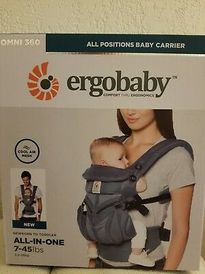 ERGOBABY 360 OMNI COOL AIR Ergo Baby Carrier NEW in BOX Oxford blue