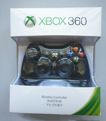 Official Microsoft Xbox 360 Wireless Controller BLACKWHITE - NEW US Stock