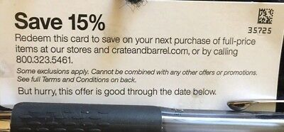 Crate and - Barrel 15 off entire Orders Couponinclude Furnitures