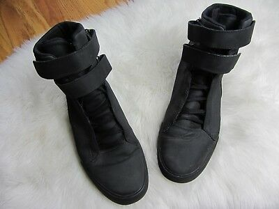 Supra Skytop Mens Black Leather High Top Lace Up Sneakers Shoes Mens Size 11-5