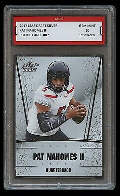 PAT MAHOMES II 2017 LEAF DRAFT SILVER 1ST GRADED 10 ROOKIE CARD CHIEFS Patrick