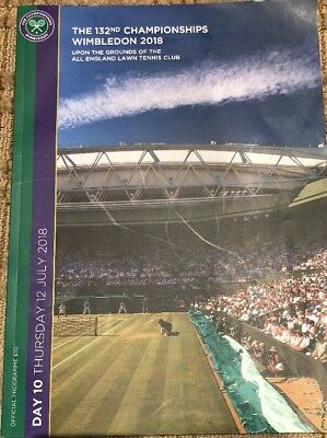 Official 141 Page 2018 Wimbledon Day 12 Program