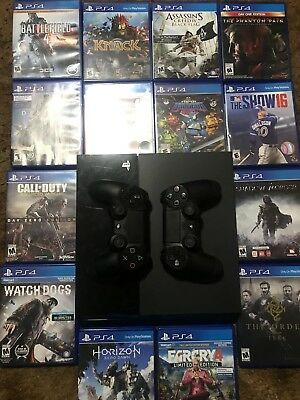PS4 Sony PlayStation 4 500gb OriginalPlus 14 Games And 2 Controllers Works Good