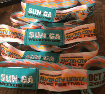 Austin City Limits Festival ACL Tickets Wristbands - Sunday OCT 7 - Weekend 1