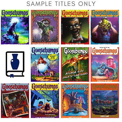 Lot of 10 RANDOM Goosebumps Books Great Gift Home school Kids Chapter Books