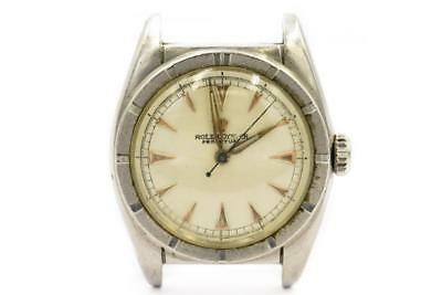 Rare Steel Rolex Bubble Back Wristwatch Ref 6015 Circa 1950l 680938