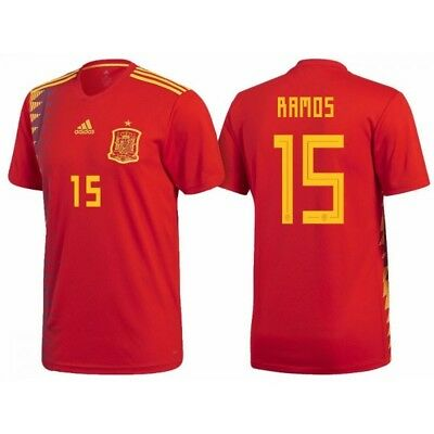 Sergio Ramos Spain 2018 World Cup Home Jersey XL