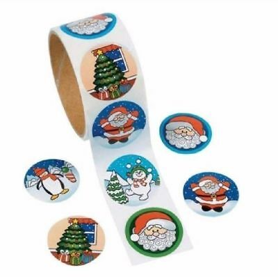 Holiday Christmas Gift Stickers 1 ROLL 100 Stickers