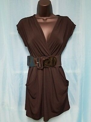 Womens WET SEAL Black Dress With Belt And Pockets Size S NWT