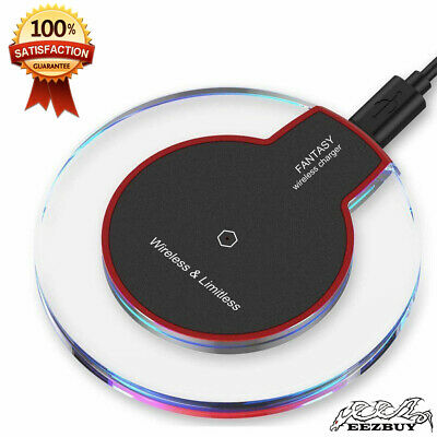 Qi Wireless Fast Charger Pad Charging Dock for iPhone XS Max Samsung Galaxy S9