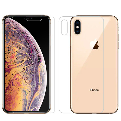 Front -Back Full Body Tempered Glass Screen Protector For Apple iPhone XR XS MAX