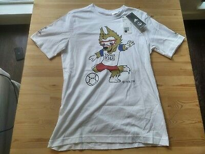 2018 Youth FIFA World Cup Adidas Zabivaka Mascot T-Shirt - Youth Large