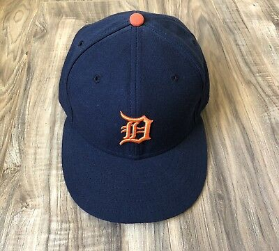 Detroit Tigers New Era 59FIFTY Size 7-5 Blue Orange Baseball Preowned