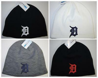 Detroit Tigers Cool Max Beanie Knit Cap CLASSIC MLB PatchLogo NEW Hot