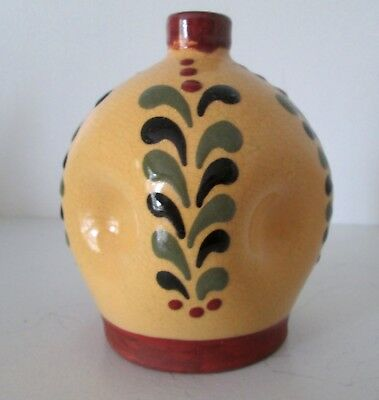 WISCONSIN POTTERY REDWARE SMALL VASE 2003 SIGNED MINT