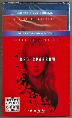 Red Sparrow Blu-ray - DVD - Digital Jennifer Lawrence Brand New with Slip Cover