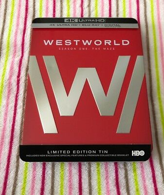 Westworld Season One - Limited Edition Steelbook Only Blu-Ray Discs Included