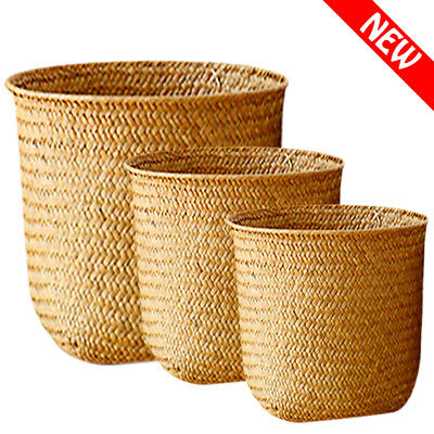 Seagrass Storage Basket Hand-knitted Woven Baskets - Small  Medium  Large
