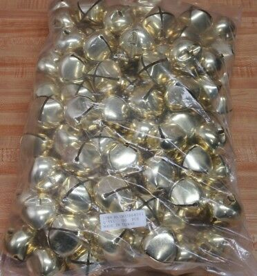 Lot of 100 Gold 45mm 1-34 Large Metal Jingle Bells Christmas Crafts Supplies