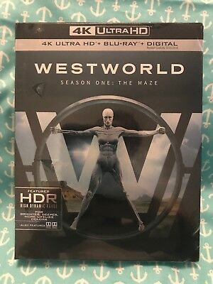 WESTWORLD  SEASON ONE  THE MAZE  4k ultra  HD - Blu-Ray - Digital   New