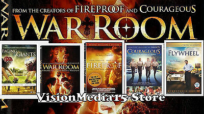 5 Pack - Fireproof Facing The Giants WAR ROOM Flywheel Courageous DVD NEW SEALED
