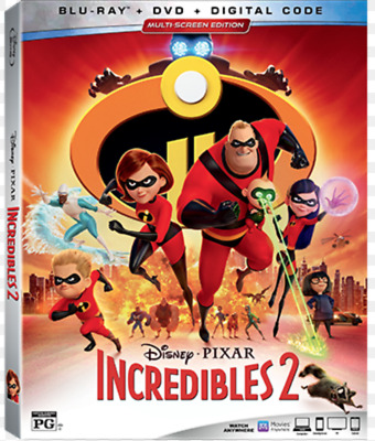 The Incredibles 2 wSlipcover USA Blu-ray DVD Digital BRAND NEW SEALED