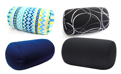 Microbead squishy hypoallergenic post surgery roll pillow with removable cover