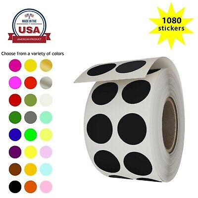 Dot Stickers Rolls Round Labels 12 inch Circles 13mm For Organizing 1080 Pack