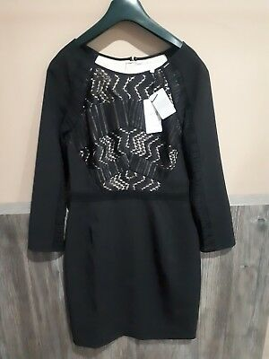 Reiss Dress Size 10 Libby Lace Panelled Kate Middleton