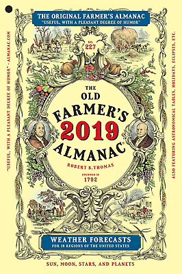 THE OLD FARMERS ALMANAC 2019  Weather Forecasts  Paperback Book  NEW