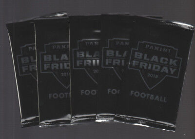 5  2018 PANINI BLACK FRIDAY FACTORY SEALED FOOTBALL PACKS - 5 THIN PACKS