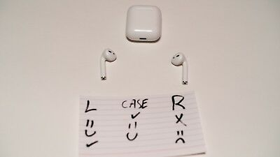 Apple AirPods-  Left Bud Works Only- Charging Case Works
