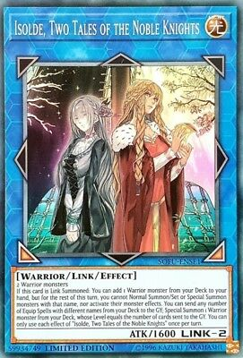 Yugioh Isolde Two Tales of the Noble Knights - SOFU-ENSE1 - Super Rare - Limit