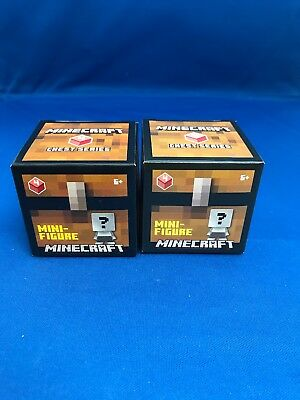 x2 New -Blind Box- MINECRAFT MINI-FIGURES Chest Series 4 New Sealed
