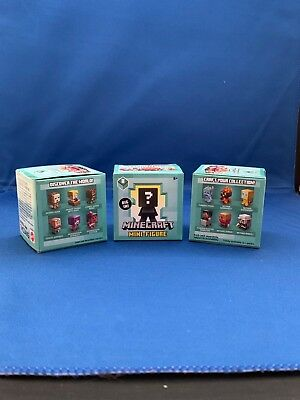 Minecraft Mini figures Mystery Series 8 Biome Settlers  Bundle of 3 Packs New