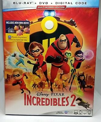 Incredibles 2 Blu-rayDVDDigital Copy