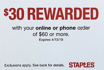 ➡️ STAPLES  30 OFF Online Order of 60 or More  SENT FAST Exp- 21619