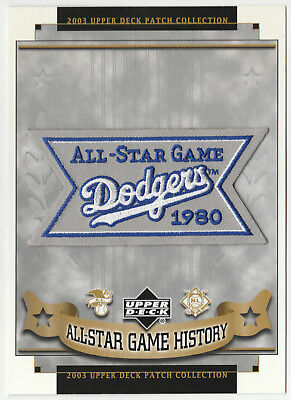 1980 ALL STAR GAME AT LOS ANGELES DODGERS MLB BASEBALL UPPER DECK PATCH