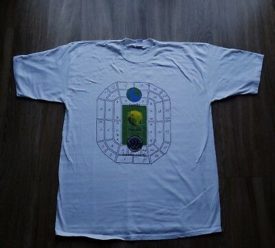Vtg 90s Wimbledon Earth Tennis Graphic T-shirt Racket XL Agassi Single Stitch