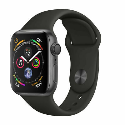 Apple Watch Series 4 44 mm Space Gray Aluminum Case with Black Sport Band GPS