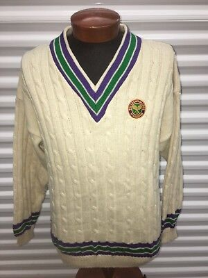 Wimbledon The Championships knit sweater tennis men's large