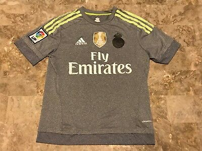 Kids Adidas 2015-2016 Real Madrid Away Football Soccer Jersey Youth Size Small