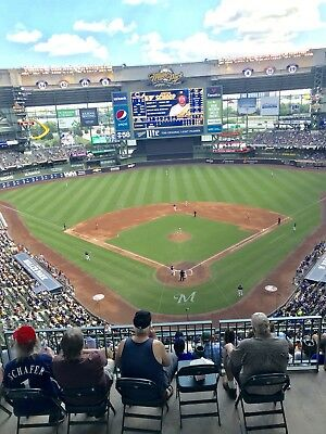 1-3 Washington Nationals  Milwaukee Brewers 2019 Tickets 5719 Sec 422 Row 8