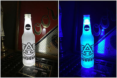 NCAA Auburn Tigers Football 12 oz Beer Bottle Light LED Neon March Madness