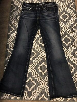American Eagle Outfitters Super Stretch KICK BOOT Jeans Womens Size 12 Long