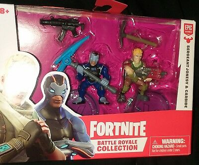 FORTNITE Battle Royale Collection SERGEANT JONESY - CARBIDE Figure 2 Pack