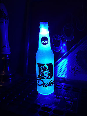 NCAA Duke Blue Devils Football 12oz Beer Bottle Light LED March Madness
