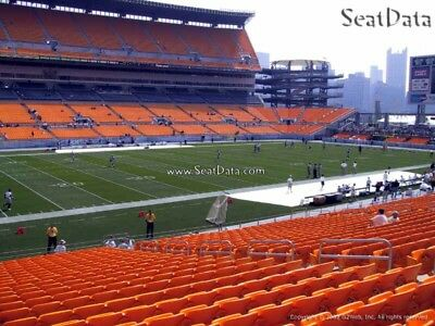4 Steelers 2nd Preseason Home Game Tickets Lower Level Sidelines Aisle