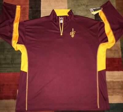 CLEVELAND CAVALIERS NBA DRI-FIT 14 ZIP LONG SLEEVE SHIRT SIZE 3XL BY MAJESTIC