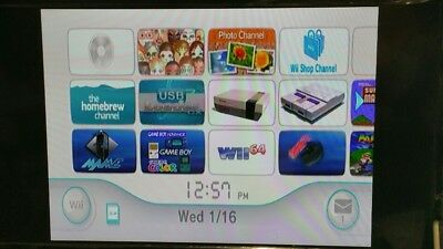 Nintendo Modded Wii Console bundle with over 2000 games GameCube RVL-001